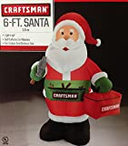 Gemmy Airblown Inflatable Craftsman Santa Holding a Tool Box - Holiday Decoration, 6-foot Tall