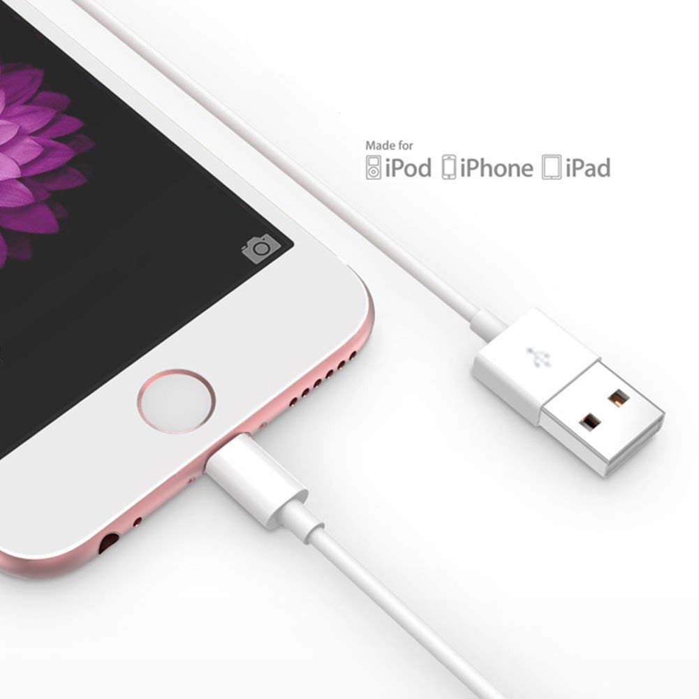 Apple iPhone/iPad charging/charger Cord Lightning to USB Cable[Apple MFi Certified] for iPhone X/8/7/6s/6/plus/5s/5c/SE,iPad Pro/Air/Mini,iPod ...