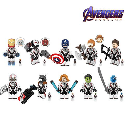 10 PCS Avengers End Game Quantum Suit Character with Micro Figures Building Blocks Kids Gift Toys