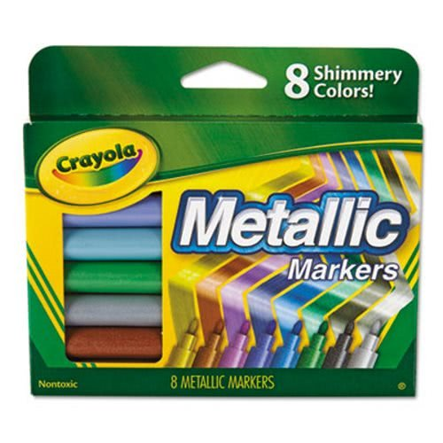 Metallic Markers, Assorted, 8/Set, Sold as 8 -