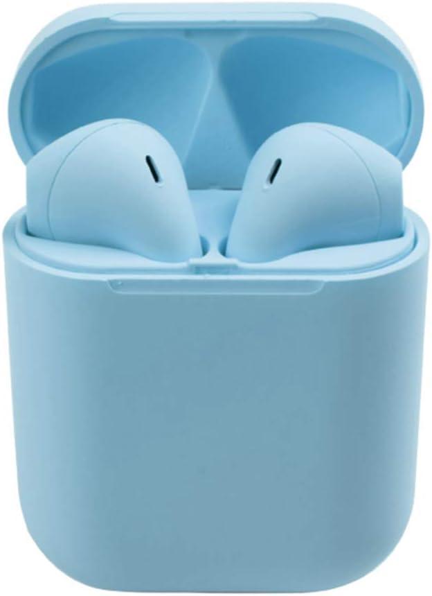 YAYUAN Los nuevos Auriculares se sienten como una Ventana emergente esmerilada en Aceite Auriculares inalámbricos Bluetooth (Azul)