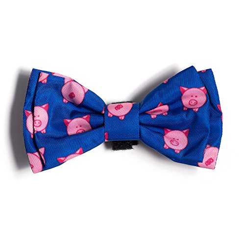 The Worthy Dog Wilbur Pig Bow Tie for Dogs, Large, - Ties Pigs