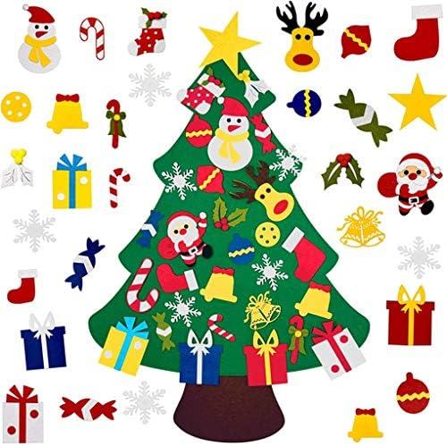 CAVIVI DIY Fühlte Weihnachtsbaum mit 30 stücke Ornamente Familie 3D Gefälschte Weihnachtsbaum für Kinder Kleinkinder Hause Tür Fenster Wand Weihnachtsdekor
