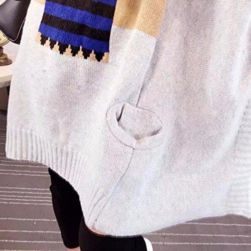QIYUN.ZCol Haut Manchon D'Aile De Chauve-Souris Pull Ample Ethnique Tricoté Chandail Des Femmes
