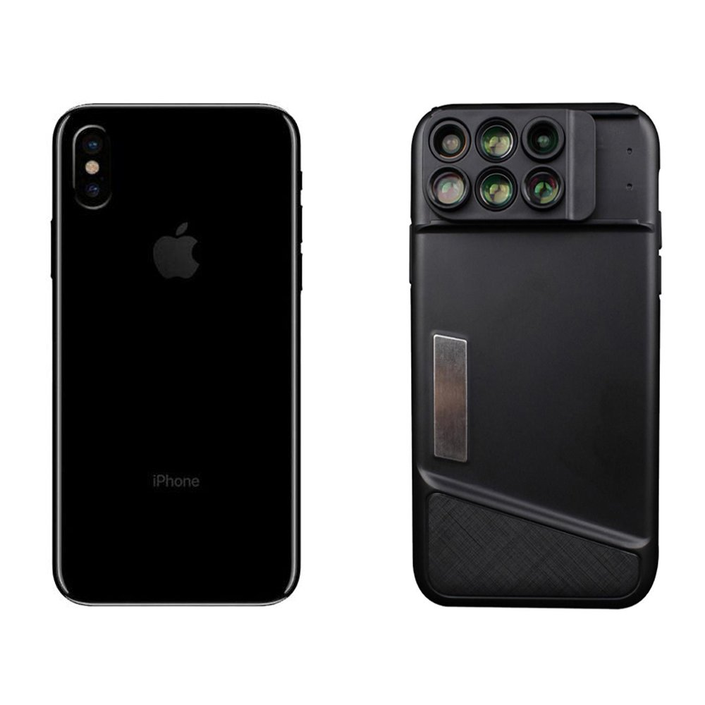 new products 8319c 46576 iPhone X Camera Lens & Durable Phone Case, Addprime 120°Wide Angle Lens +  2X Telephoto Lens, 20X Macro Lens + 10X Macro Lens, 180°Fisheye Lens + 2X  ...