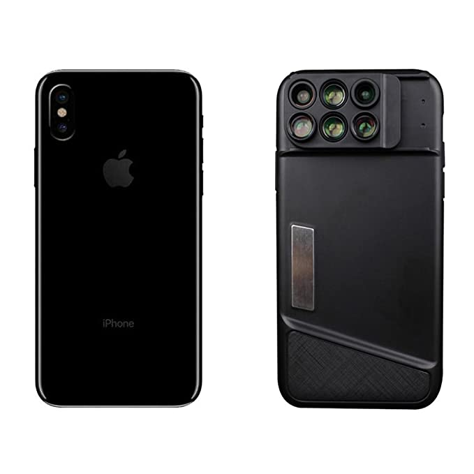 new products c5f70 fca6b iPhone X Camera Lens & Durable Phone Case, Addprime 120°Wide Angle Lens +  2X Telephoto Lens, 20X Macro Lens + 10X Macro Lens, 180°Fisheye Lens + 2X  ...