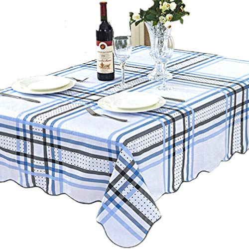 (EffortLife Flannel Backed Vinyl Tablecloth WaterProof/Oil-proof PVC Table Cover Square 60 x 60 Inch )