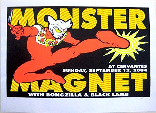 (Oddtoes Music Memorabilia Monster Magnet- Original Signed & Numbered 2004 Concert Poster by Lindsey Kuhn, Bongzilla)