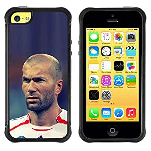 SHIMIN CAO@ ZIDANE SOCCER FOOTBALL LEGEND Rugged Hybrid Armor Slim Protection Case Cover Shell For iphone 5C CASE Cover ,iphone 5C case,iphone5C cover ,Cases for iphone 5C