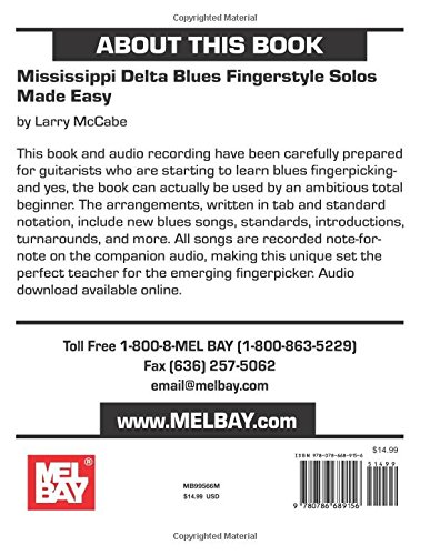 Mississippi Delta Blues Fingerstyle Solos Made Easy: Larry