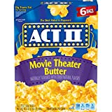 popcorn act ii - Act II Popcorn, Movie Theater Butter, 2.75 Ounce Bags, 6-Count, Pack of 6