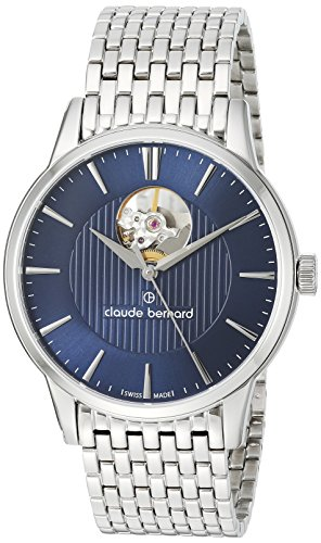 Claude Bernard mens 85017 3M BUIN Classic Analog Display Swiss Automatic Silver Watch