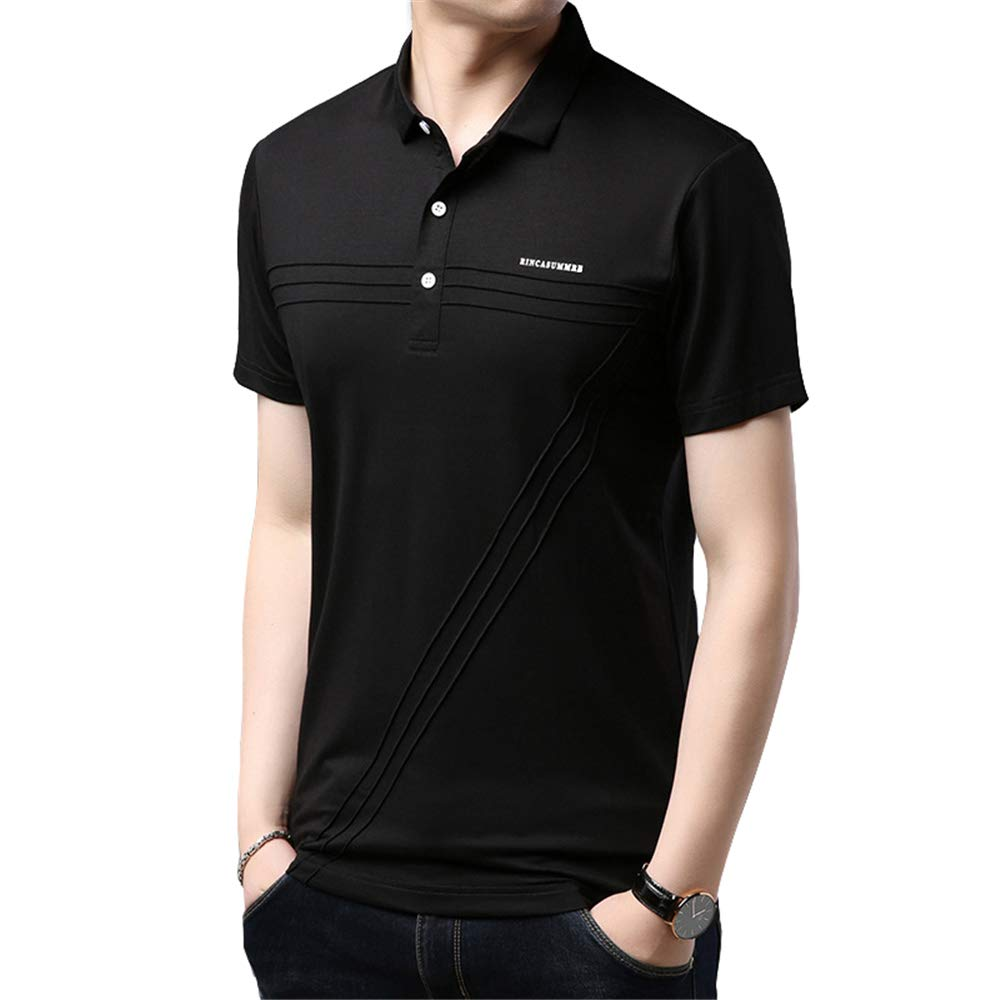 Polo Shirt Solid Color Business Fashion Atmosphere Comfortable Men Fathers Day