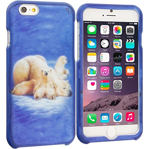 Cell Accessories For Less (TM) Polar Bear 2D Hard Rubberized Design Case Cover for Apple iPhone 6 (4.7) + Bundle (Stylus & Micro Cleaning Cloth) - By TheTargetBuys