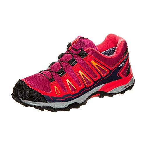 Salomon X-Ultra Gtx J, Zapatillas de Deporte Exterior Unisex Niños Morado (Sangria/Poppy Red/Bright Marigold)