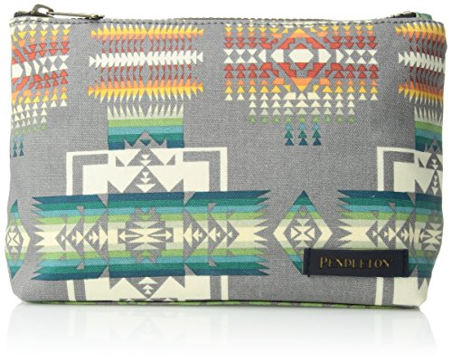 Pendleton Women's Canopy Canvas Zip Pouch Accessory, -Chief Joseph Grey, One - X Pendleton