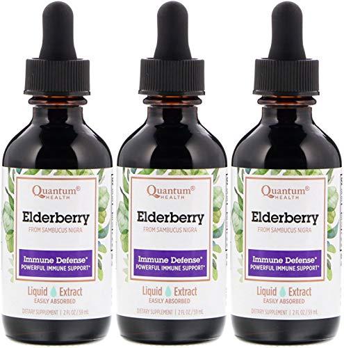 Quantum Elderberry Liquid Extract, 2 Ounce - 3 per case. ()