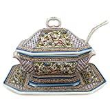Madeira House Coimbra Ceramics Hand-Painted Decorative Tureen XVII Cent Recreation #1107/1-2