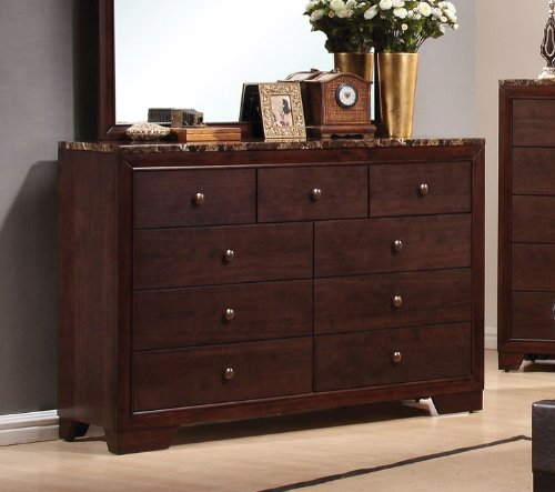 Coaster Home Furnishings 200423 Casual Contemporary Dresser, Walnut