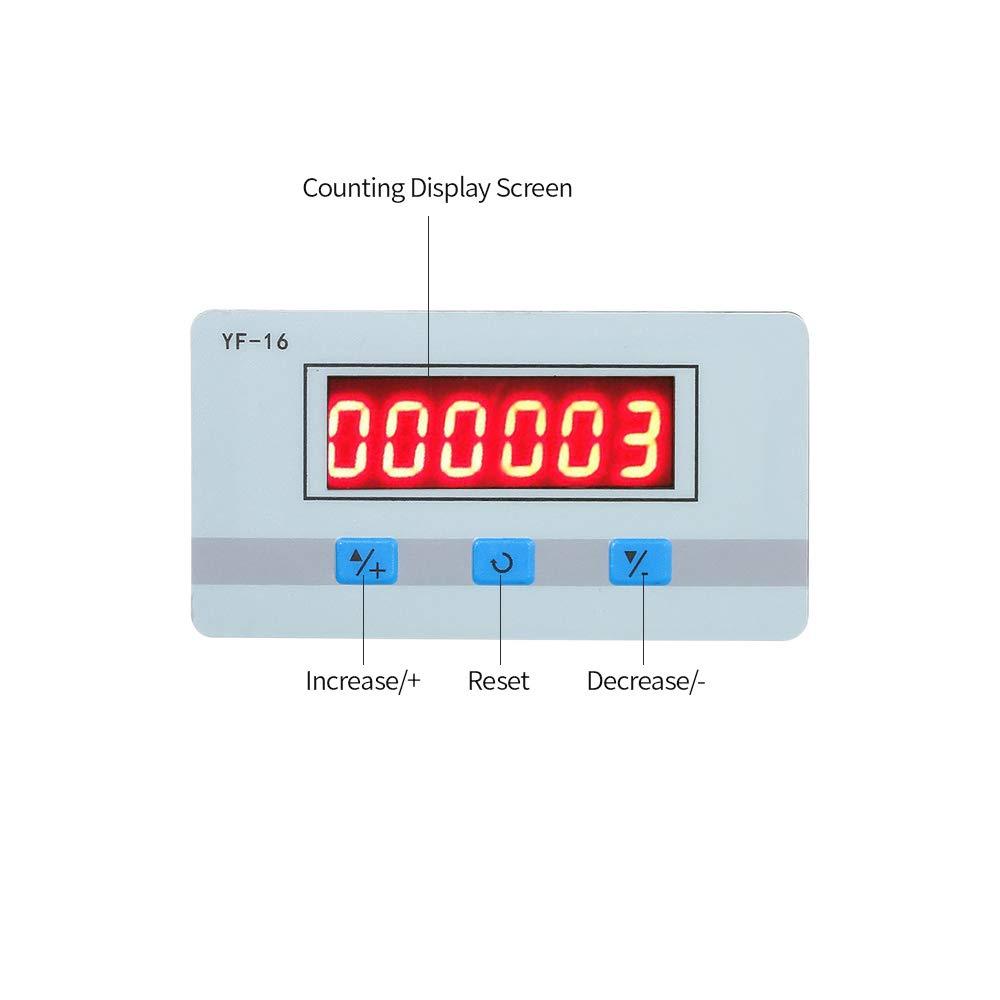 Festnight Module de compteur num/érique LCD mini DC AC5V ~ 24V Totalisateur /électronique avec interface de signal NPN et PNP 1~999999 fois Plage de comptage