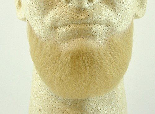 Full Chin Beard BLONDE - 100% Human Hair - no. 2023 - REALISTIC! Perfect for Theater and Stage - Reusable!]()