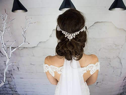 Crystal Bridal Head Chain, Goddess Headpiece, Wedding Hair Accessories, Glam Hair Jewelry, Designer Headband by Hair Floaters
