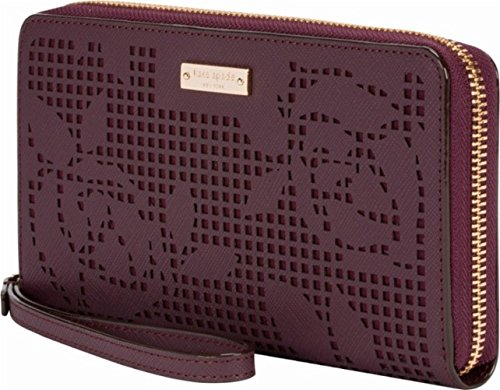 Incipio Kate Spade New York Zip Wristlet - Fits Most Mobile Phones - Perforated Rose Mahogany