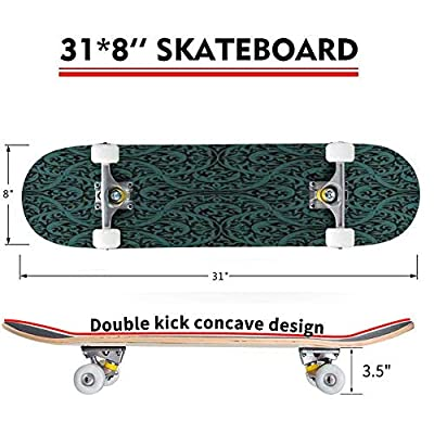 Roses Seamless Pattern Outdoor Skateboard 31