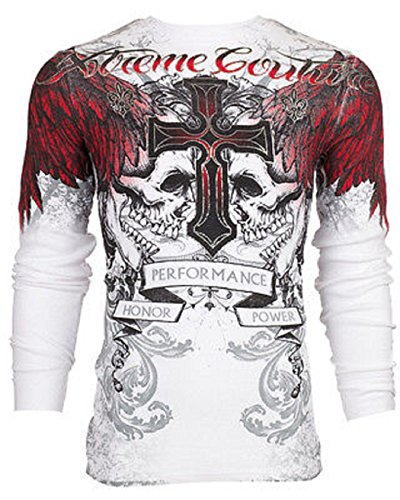 Xtreme Couture AFFLICTION Mens THERMAL T-Shirt CARNIVORE Biker MMA UFC – DiZiSports Store