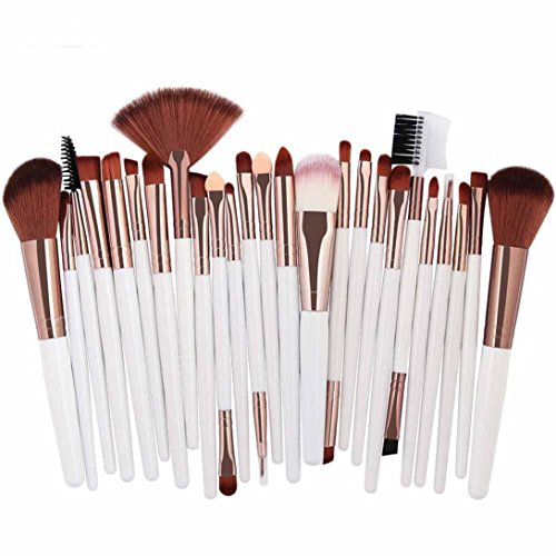 Celendi_ Makeup Brush 25 pcs Cosmetic Brush Kit Blush Ereyeshadow Brushes Set Beauty Tool (C)