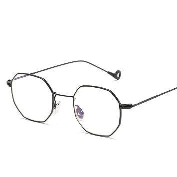 ce0b9d31bb RFVBNM Gafas de sol cuadradas pequeñas Piezas de mar Retro Gafas de Sol  Hombres y Mujeres Gafas de Sol Planas Espejo, Espejo Plano Blanco Marco  Negro: ...