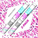 Gender Reveal Party Cannon Poppers - 2 Pack Pink - Gender Reveal Poppers - 2 Pink Cannons - Girl Gender Reveal Party Supplies (Pink)