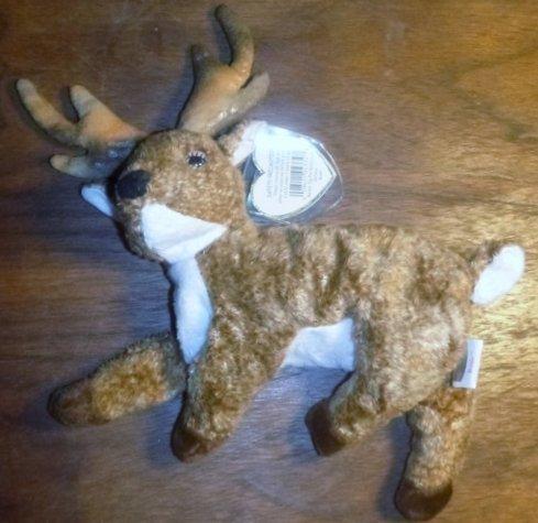 Fawn Beanie - Ty Beanie Babies Roxie Reindeer Brown