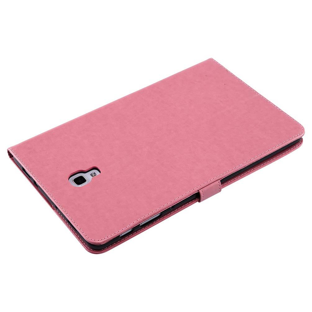 Rose Dor/é Coque pour Samsung Galaxy Tab A 10.5 Pouces 2018//T590//T595 Etui Tablette PU+TPU Fille Imprimant Multi-Usage Cuir Silicone Support Antichoc Design Cr/éatif Magn/étique Housse