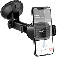حامل الهواتف من يو جرين للسيارة، يثبت على لوحة التحكم الامامية للسيارة و الزجاج الامامي - حامل الهاتف الذكي بالشفط القوي…