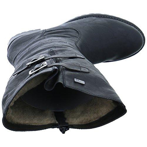 Negro Asphalt asphalt Botas Mujeres 01 D8273 Remonte 8EaHqH
