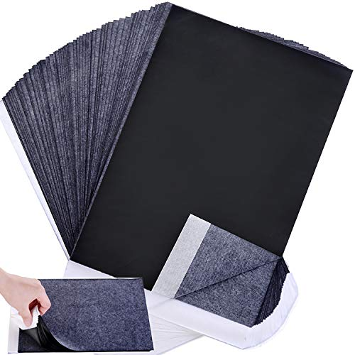 Wangday Carbon Paper, Black Graphite Transfer Tracing Paper for Wood, Paper, Canvas and Other Art Surfaces- 100 ()