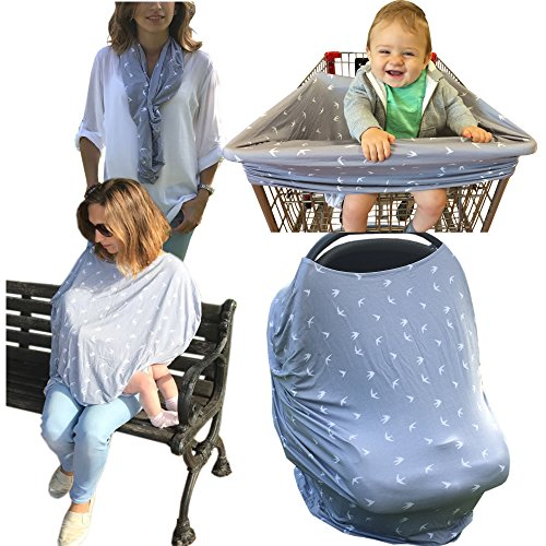 Nursing Breastfeeding Cover Top Scarf - Multi Use Baby Car S