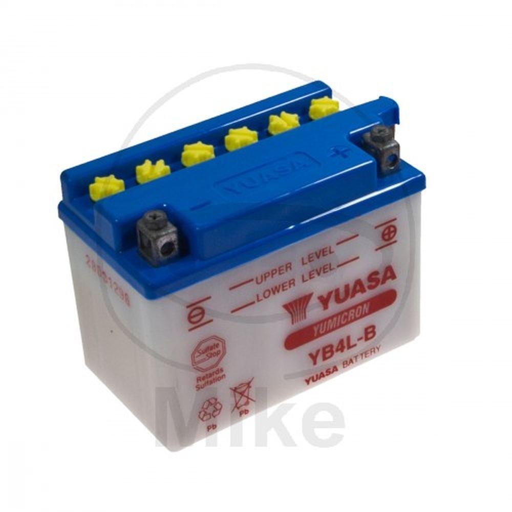 Yuasa YB4L-B Motorcycle Battery, 120x70x92 mm, 12V Yuasa Battery