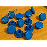 12 blue rubber bottle stoppers, self healing injection ports for mason jar lids