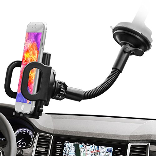 IPOW Enhanced Goose Arm Dashboard Windshield Cell Phone Hold