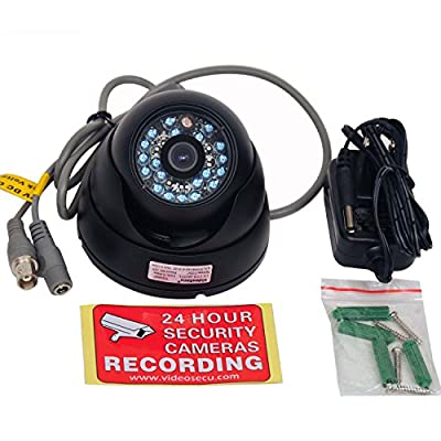 VideoSecu Day Night Vision Outdoor CCD CCTV Security Dome Camera Vandal-proof 3.6mm Wide View Angle Lens 480TVL with Bonus Power Supply 1Z0 from VideoSecu