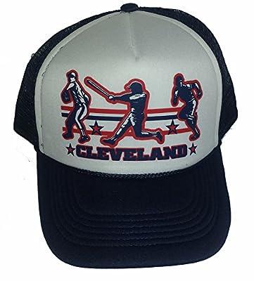 Cleveland Baseball Mesh Snapback Trucker Hat Cap