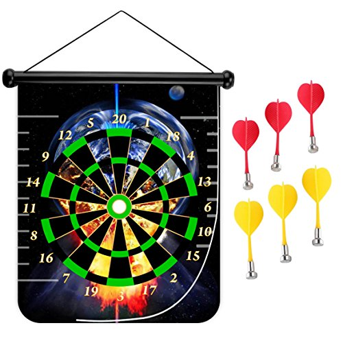 art Board Double Sided Hanging Dart Board Set and Bullseye Game! Bigbang ()