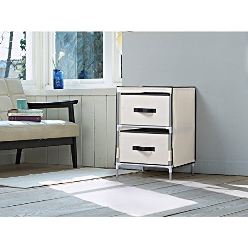 Homestar Beige Fabric 2-drawer Dresser by Home Star