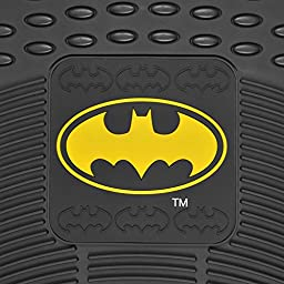 Batman Rubber Car Floor Mats 4 PC Front Heavy Duty All Weather Protection - Trimmable To fit