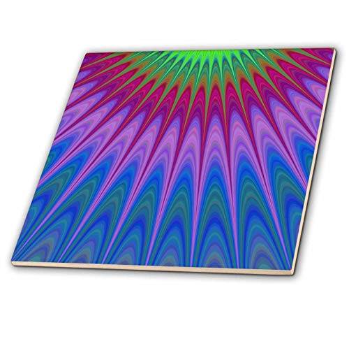3dRose David Zydd - Colorful Abstract Designs - Heavenly Rays - colorful design - 4 Inch Ceramic Tile (ct_289106_1)