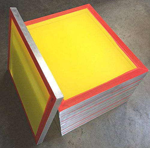 12-pack 20''x24'' Aluminum Silk Screen Printing Frames 200 tpi Yellow Mesh by MSJ Screens