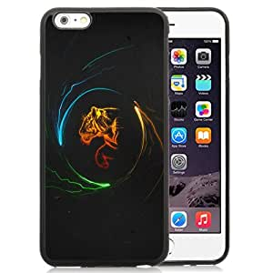 New Fashion Custom Designed Skin Case For iPhone 6 Plus 5.5 Inch With Light and Shadow Tiger Phone Case Cover