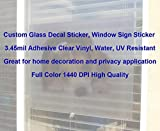 Custom Clear Adhesive Transparent Vinyl Printing, Glass Window Sign Sticker